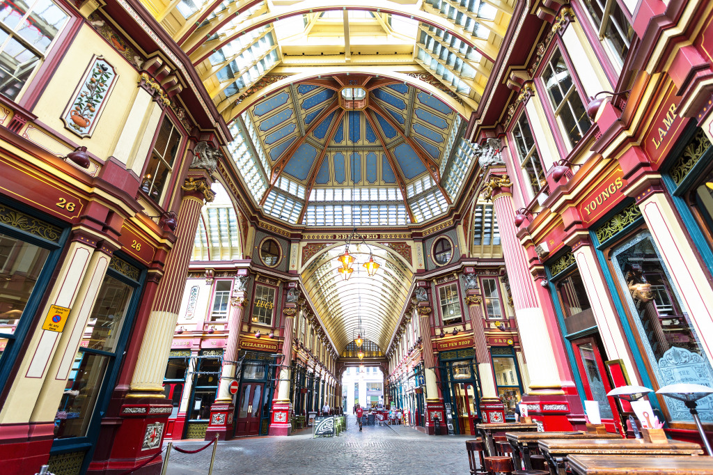 Leadenhall Market London Jigsaw Puzzle In Puzzle Of The