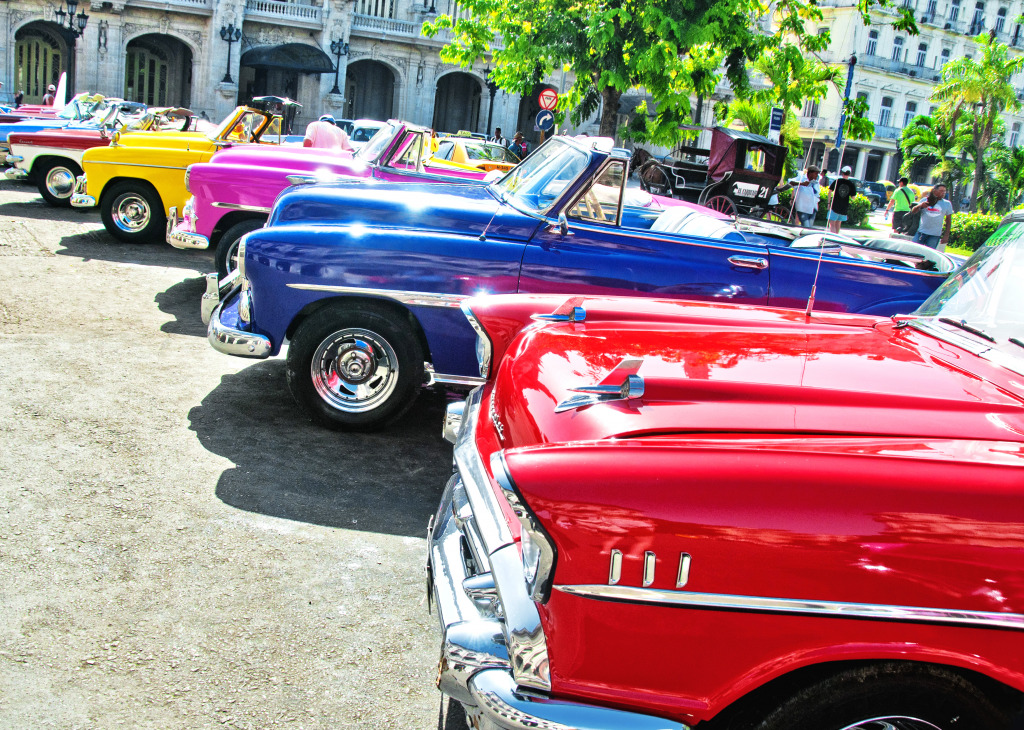 Vintage American Cars in Havana, Cuba jigsaw puzzle in Puzzle of ...