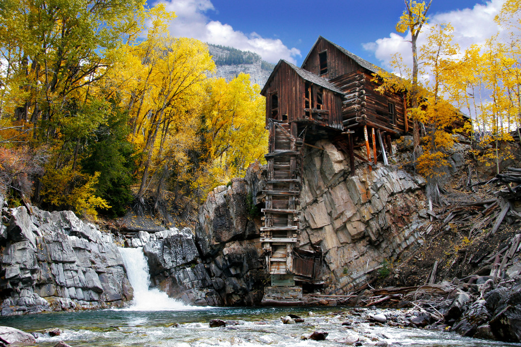 Crystal mill colorado jigsaw puzzle in waterfalls puzzles for Crystal fall