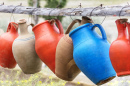 Colorful Clay Jugs, Cappadocia, Turkey