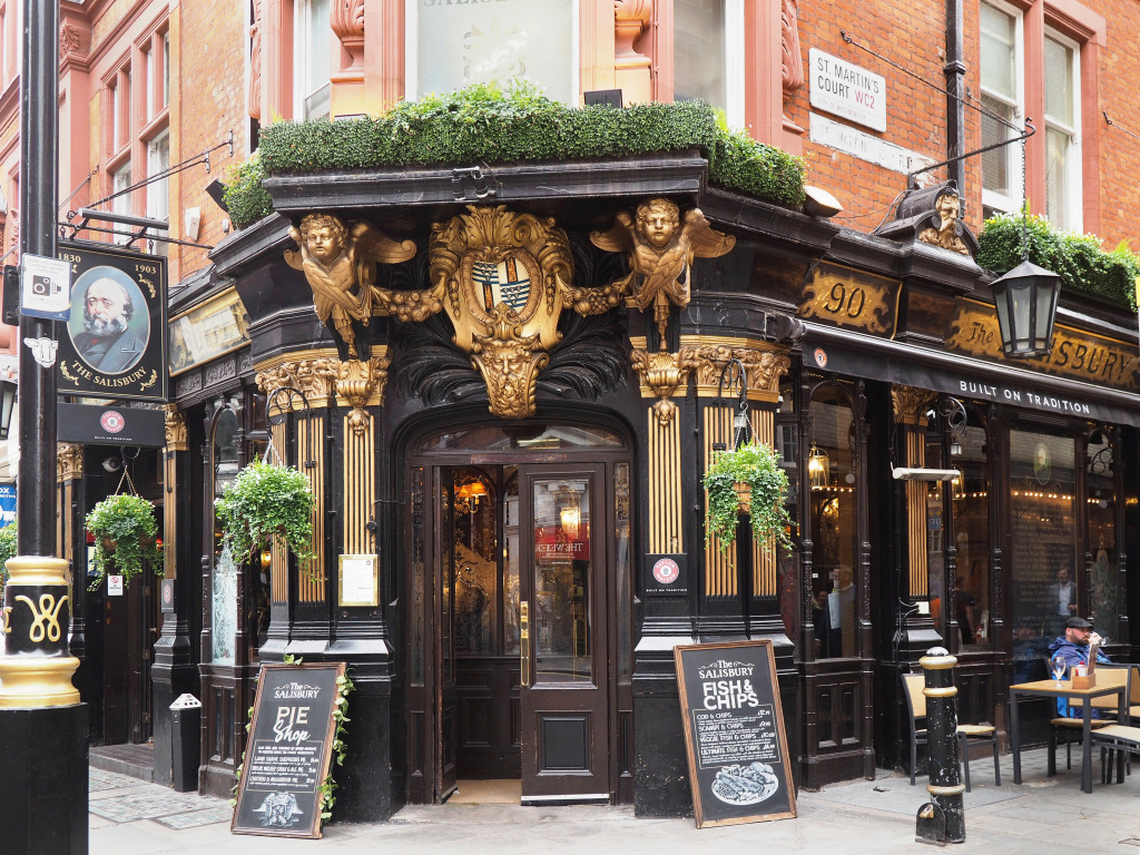 Pub On St Martins Lane London Jigsaw Puzzle In Of The Day