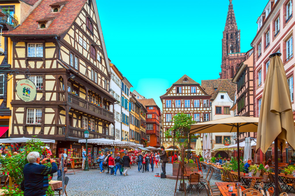 streets of strasbourg france jigsaw puzzle in street view puzzles on. Black Bedroom Furniture Sets. Home Design Ideas