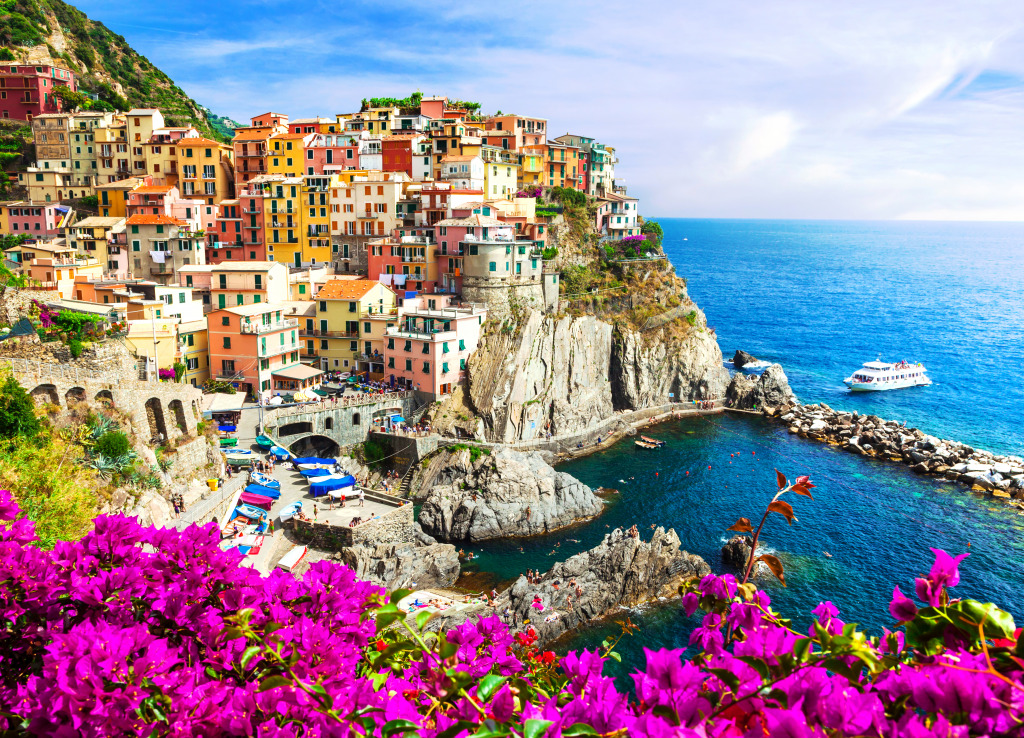 Manarola village cinque terre italy jigsaw puzzle in for Best travel italy
