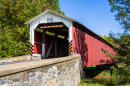 Covered Bridge in Rural Pennsylvania