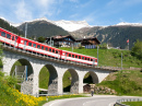 Rhaetian Railway, Surselva Valley, Switzerland