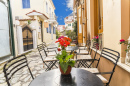 Street Cafe in Preveza City, Greece