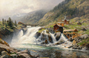Norwegian Landscape with a Water Mill