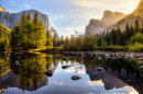 Sunrise in the Yosemite National Park