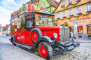 Christmas Car, Rothenburg ob der Tauber, Germany