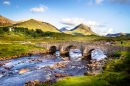 Old Brick Bridge in Sligachan, Scotland
