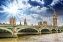 Westminster Bridge over River Thames, London