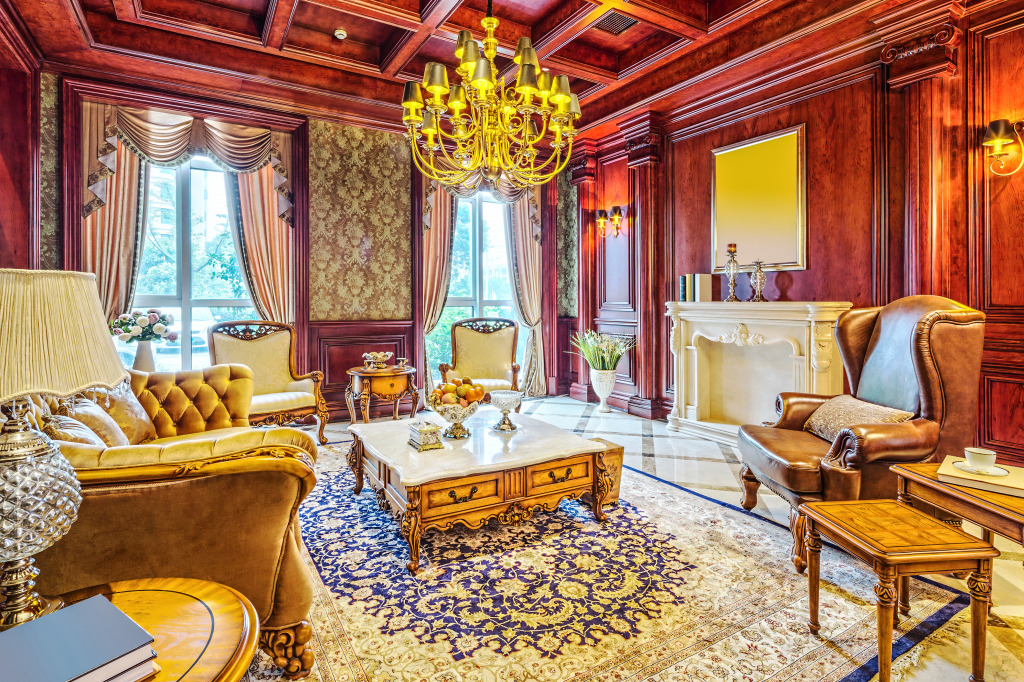 Luxury Living Room Jigsaw Puzzle In Puzzle Of The Day Puzzles On