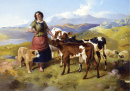 Highland Landscape with a Shepherdess