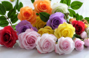 Colorful Clay Roses