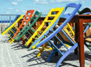Colorful Chairs in Greece