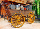 Old Cart with Wine Barrels