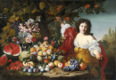 Still Life of Fruits with a Figure