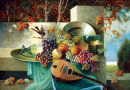 Still Life of Fruit and Mandolin