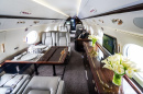 Modern Private Business Jet Interior