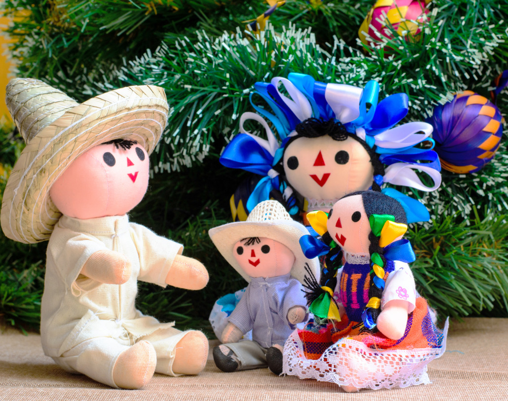 mexican christmas dolls jigsaw puzzle in handmade puzzles on