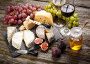 Assortment of Cheese and Fruits