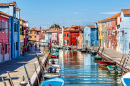 Island of Burano near Venice