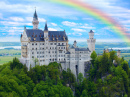 Rainbow over Castle Neuschwanstein, Bavarian Alps