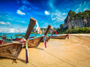 Long-tail Boats on Railay Beach, Thailand