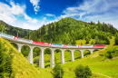 Viaduct over Landwasser River, Switzerland