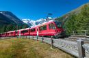 Bernina Express Train, Swiss Alps