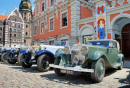 Antique Car Parade in Riga, Latvia