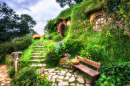 Bilbo Baggins Home, Hobbiton, New Zealand