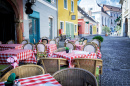 Street Cafe in Szentendre, Hungary