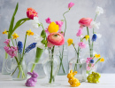 Flowers in Glass Vases