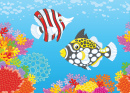 Butterfly Fish and a Clown Triggerfish