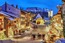 Christmas in Gruyeres, Switzerland