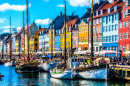 Waterfront of Nyhavn, Copenhagen, Denmark