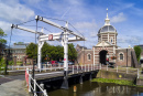 Morpoort City Gate in Leiden, Holland