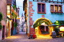 Riquewihr Village, Alsatian Wine Route, France