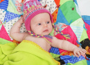 Infant Wearing a Peruvian Hat