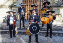 Mariachis During the Carnival in Mexico