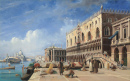 The Riva degli Schiavoni with the Doge's Palace