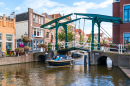 Drawbridge in Leiden, Netherlands