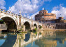 Angel Castle with Bridge, Rome, Italy