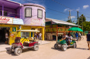 Golf Carts in Caye Caulker, Belize
