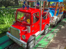 Fire Truck in an Amusement Park