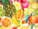 Watercolor Fruit Mix