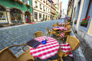 Street Cafe in Rothenburg ob der Tauber