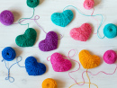 Colorful Woolen Hearts