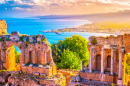 Ruins of Taormina Theater, Sicily